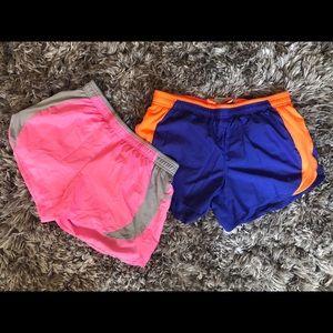 Two pairs of Danskin running shorts